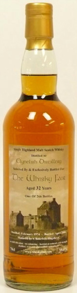 Clynelish 32yo 1974/2006 (58.6%, The Whisky Fair, Bourbon Hogshead, 266 bottles)