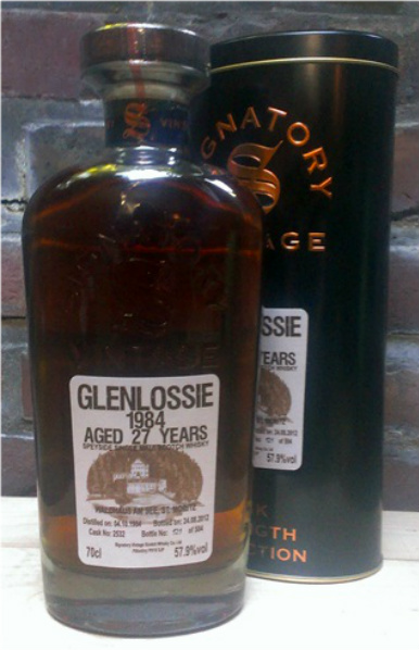 Glenlossie 27yo 1984/2012 (57.9%, Signatory Vintage, Cask Strength Collection for Waldhaus am See, Cask #2532, 504 bottles)