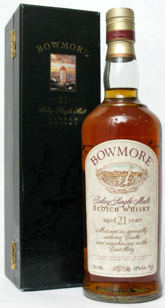 Bowmore 21yo (43%, OB, Red Stripe, 750 ml)