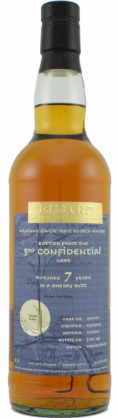 Undisclosed Distillery 7yo 2005/2012 (51.6%, Kintra, 3rd Confidential Cask, Sherry Butt #900161, 143 bottles)