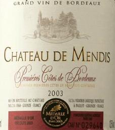 Chateau de Mendis 2003