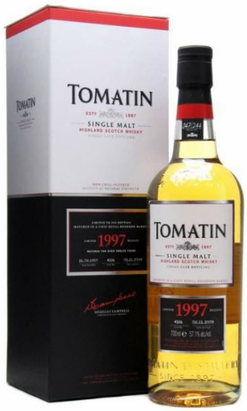 Tomatin 12yo 1997/2009 (57.1%, OB, First Refill Bourbon Barrel #4326, 244 bottles)