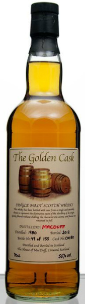 Macduff 32yo 1980/2012 (50.0%, The House of MacDuff, The Golden Cask, Cask CM 180, 155 bottles)
