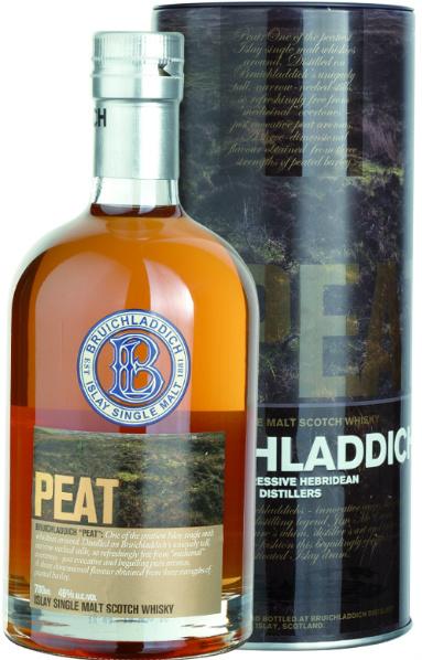 Bruichladdich Peat (46%, OB, Bourbon Casks, 2008)