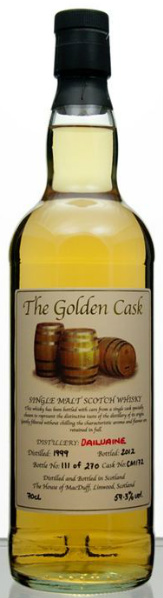 Dailuaine 199920/12 (59.3%, The House of MacDuff, The Golden Cask, Cask #CM172, 270 bottles)