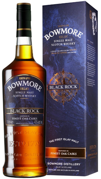 Bowmore 'Black Rock' (40%, OB, for Travel Retail, 1 Litre)