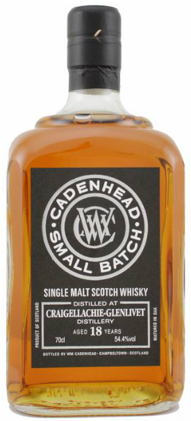 Craigellachie 18yo 1994/2013 (54.4%, Cadenhead, Small Batch, Bourbon & Sherry Hogshead, 432 bottles)