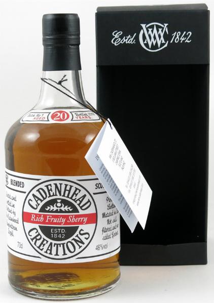 Cadenhead Creations 20yo 'Rich Fruity Sherry' (46%, Batch No. 1, 2013)