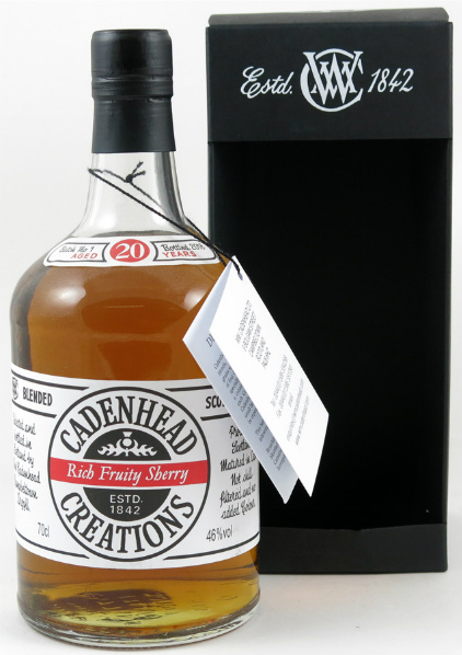 Cadenhead Creations 20yo 'Rich Fruity Sherry' (46%, Batch No. 1, 2013)