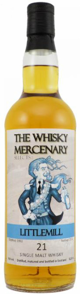 Littlemill 21yo 1992/2014 (52.9%, The Whisky Mercenary, Bourbon Cask)