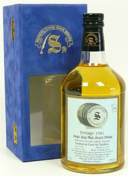 Caol Ila 22yo 1981/2004 (59.0%, Signatory Vintage, Cask #470, 281 bottles)