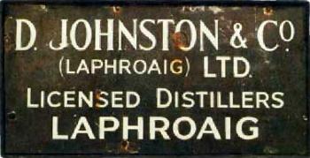 Laphroaig Sign