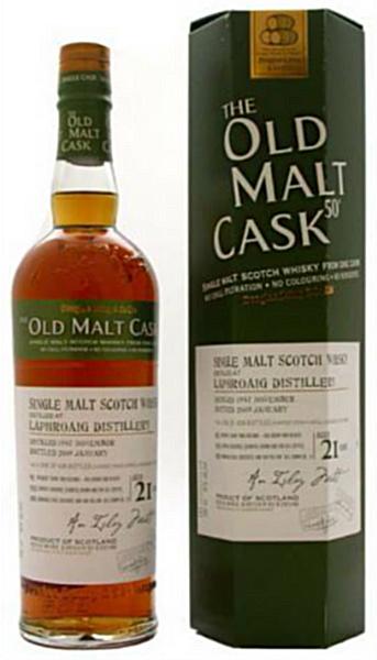 Laphroaig 21yo 1987/2009 (50%, Douglas Laing, Old Malt Cask, Refill Hogshead, DL REF 4855, 439 bottles)