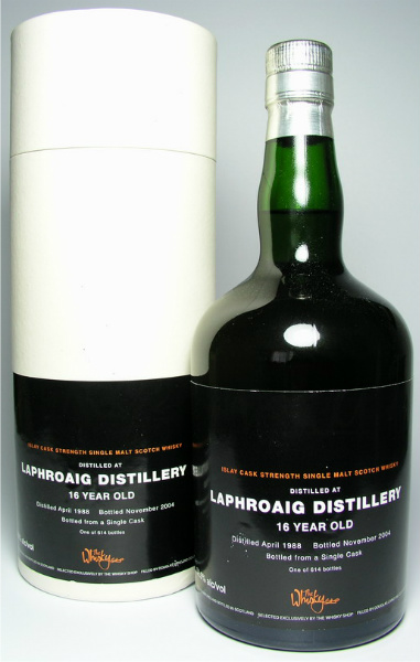 Laphroaig 16yo 1988/2004 (52.5%, Douglas Laing, for The Whisky Shop, 614 bottles)