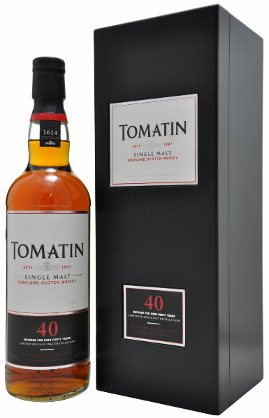 Tomatin 40yo 1967/2007 (42.9%, OB, Seven Bourbon Hogsheads, 1614 bottles)