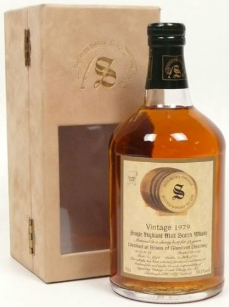 Braes of Glenlivet 19yo 1979/1999 (58.1%, Signatory Vintage, Sherry Butt #9294, 658 bottles)