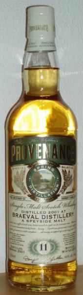 Braeval 11yo 2001/2012 (46%, Douglas McGibbon, Provenance, Sherry Cask, DMG 9312)