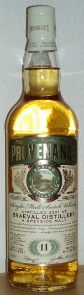Braeval 11yo 2001/2012 (46%, Douglas McGibbon, Provenance, Sherry Cask, DMG 9312)