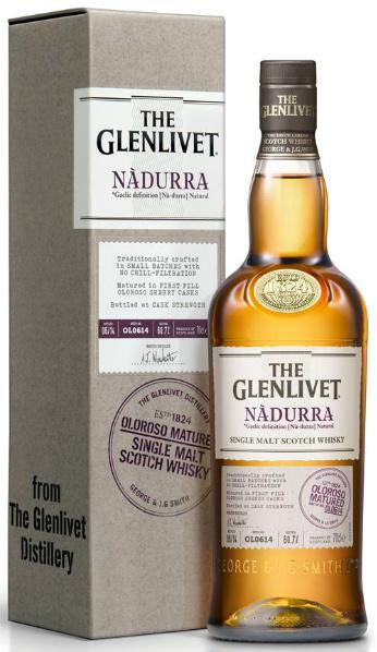 Glenlivet Nàdurra Oloroso Matured (60.7%, OB, First Fill Oloroso Sherry Casks, Batch OL0614)