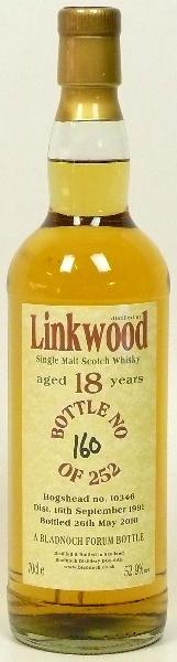 Linkwood 18yo 19912010 (52.9%, Bladnoch Forum, Hogshead #10346, 252 bottles)