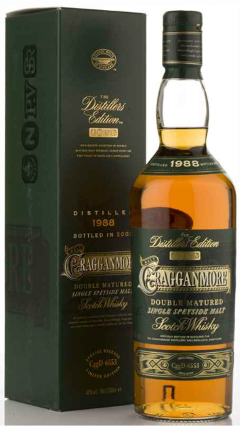 "Cragganmore 1988/2002 ""Distillers Edition"" (40%, OB, Double Matured in Ruby Port Wood, CggD-6553)"