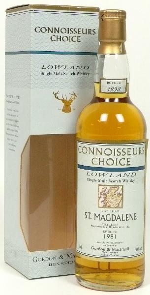 St. Magdalene 1981/1999 (40%, Gordon & MacPhail, Connoisseurs Choice, II/BJ)