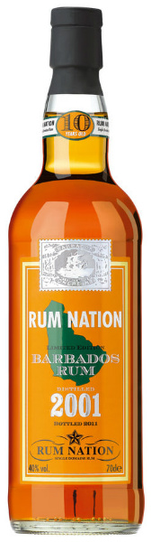 Barbados Rum 10yo 2001-2011 (40%, Rum Nation, Barbados)