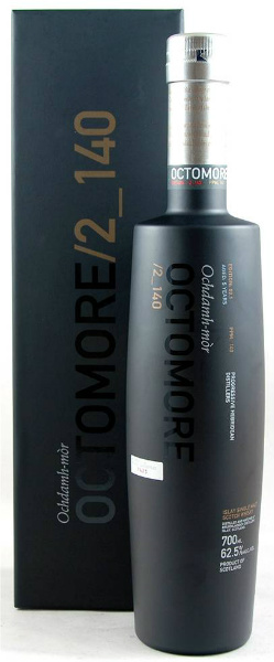 Octomore Edition 02.1 / 2_140 (62.5%, Bruichladdich, Ochdamh-mor, American Oak, 140 ppm, 15.000 bottles)