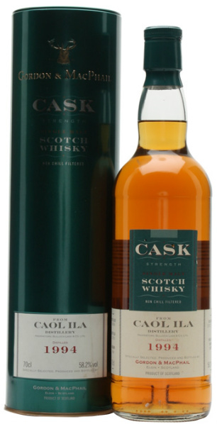 Caol Ila 11yo 1994/2005 (58.2%, Gordon & MacPhail, Cask Strength, First Fill Sherry Butts #12423 & #12424)