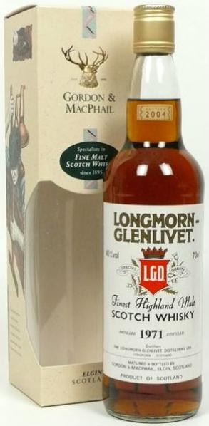 Longmorn 1971/2004 (40%, Gordon & MacPhail, Distillery Label, JD/AII)