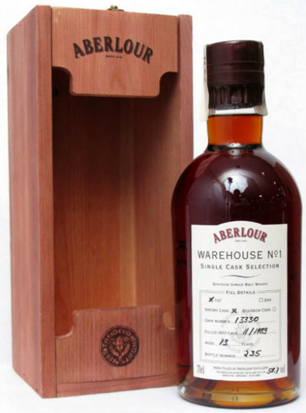 Aberlour 13yo 1989/2003 Warehouse No 1 (58.7%, OB, Single Cask Selection, Sherry Cask #13330)