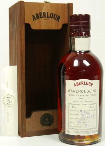 Aberlour 16yo 1995/2012 Warehouse No 1 (57%, OB, Single Cask Selection, First Fill Sherry Cask #4934)