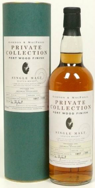Imperial 9yo 1991/2001 Port Wood Finish (40%, G&M, Private Collection, Cask #9948 1.2, 2600 bottles)