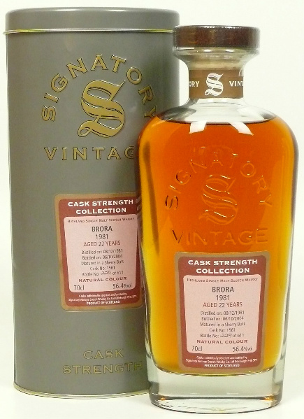 Brora 22yo 1981/2004 (56.4%, Signatory Vintage, Cask Strength Collection, Sherry Butt #1561, 611 bottles)